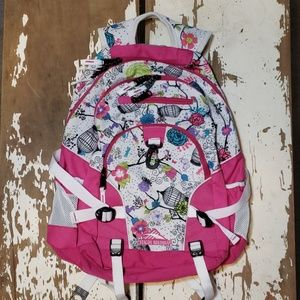 High Sierra Floral Butterfly Birdcage Backpack